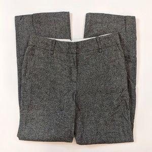 Ann Taylor Flare Leg Size 6 Gray Wool Blend Pants